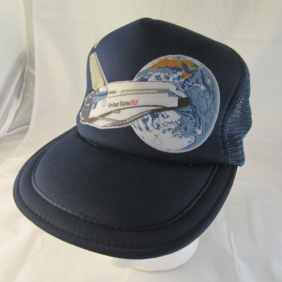 9e051706bd7 NASA Snapback Cap Trucker Hat Navy Blue Cap Mesh. M 5b75d9af4ab633061fe42666
